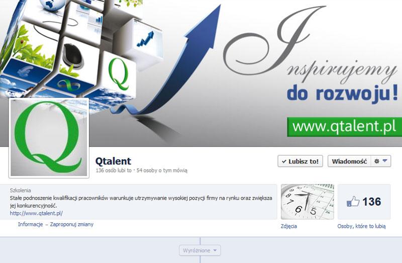 logo facebook na ulotce